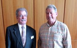 Dieter Laquai und Vorsitzender Reiner Ehret, 2012