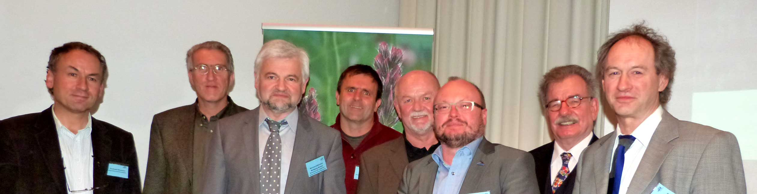 Von links nach rechts: Dr. Gerhard Bronner, Jost Einstein, Wolfgang Reimer, Mathias Kramer, Karl Giebeler, Claus Mayr, Reiner Ehret, Norbert Höll Es fehlen: Prof. Dr. Thomas Potthast, Ralf Worm