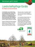 Landschaftspflegegeräte für den Naturschutz