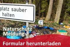 Naturschutz-Meldung: Formular herunterladen